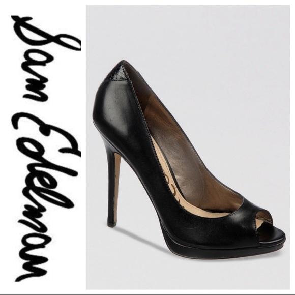 Black Peep Toe Heels | Poshmark